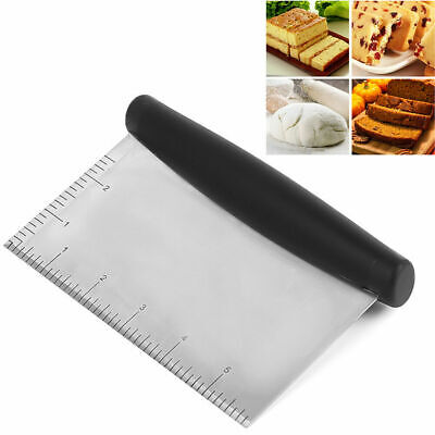 £4.99 • Buy Stainless Steel Pastry Bench Scraper Dough Cutter Divider Pizza Cake Cookie Tool