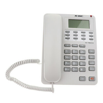Home Office Telephone Big Button Caller Display Dial Corded Desk Phone White • 12.41£