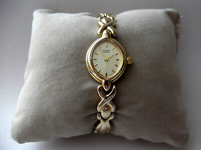 Citizen Ladies Gold Plated Quartz Bracelet Dress Watch Oval Dial 15.5cm Working • 17.99£