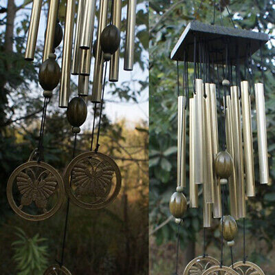 Wind Chimes Outdoor Living Window Yard Garden Bells Chinese Copper 12 Tubes • 8.71£