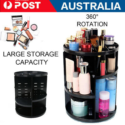 AU10.39 • Buy Makeup Organizer Box 360° Degree Rotating Cosmetic Storage Spinning Rack Case AU