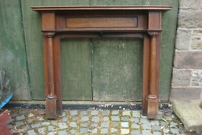 OAK FIRE SURROUND 1920s ONE ORIGINAL COAT OF BUTTON POLISH 1575 X 1310 X 255 • 179£