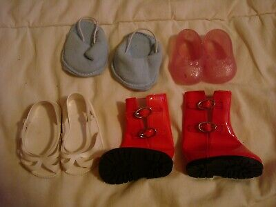 4 X PAIRS DOLL SHOES/SANDALS/BOOTS/SLIPPERS CINDERELLA No.4 FISHER PRICE  • 4.99£
