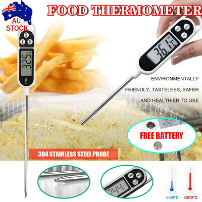 AU5.79 • Buy Food Cooking Digital Meat Thermometer Temperature Kitchen BBQ Temp Probe AU 2020