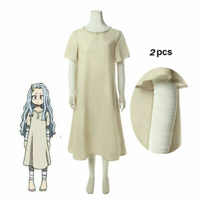 $ CDN22.99 • Buy My Hero Academia 4 Eri Cosplay Costume Beige Dress/ Bandage/ Long Hair Wig/ Horn