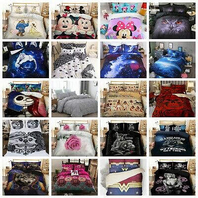 Duvet Cover Quilt Cover Bedding Set With Pillow Cases Single Double King Sizes • 20.79£