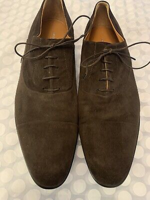 Russell And Bromley (Moreschi) Mens 'CHICAGO' Brown Suede Lace Up Shoes Size 9 • 95£