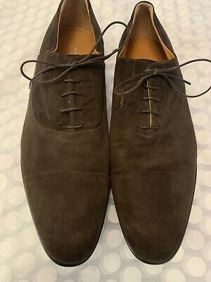 £95 • Buy Russell And Bromley (Moreschi) Mens 'CHICAGO' Brown Suede Lace Up Shoes Size 9