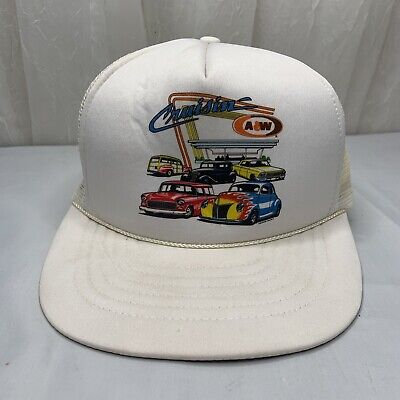Vintage A&W Root Beer Collectibles Hat Cruisin White • 11.20£