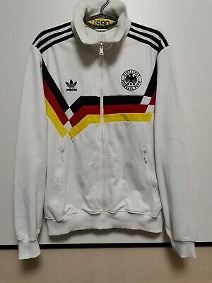 Size L Germany Retro Replica 1988-1990 Training Home Football Jacket Adidas • 85£