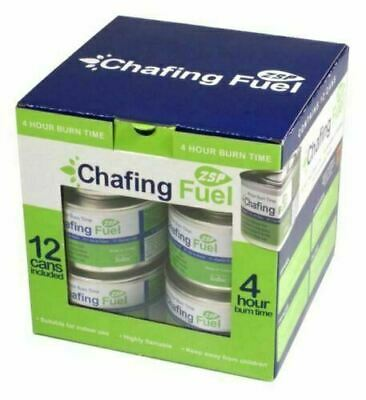 £28.99 • Buy 12 X Ethanol Chafing Dish Fuel Chafer Gel 2.5hr Can Catering BBQ Buffet Camping
