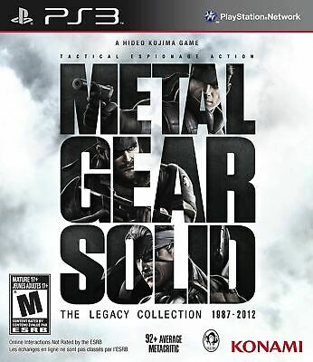 £27.80 • Buy METAL GEAR SOLID LEGACY COLLECTION PS3 GAME (No Artbook)