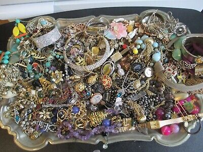 $ CDN24.17 • Buy HUGE! Vintage To Now JUNK DRAWER Estate Jewelry Lot Unsearched Untested