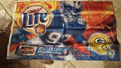 $35 • Buy Miller Lite Super Bowl 36 Flag. Opened The Bag To Post Pic. Never Used. #8