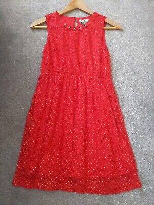 Girls Party Dress Age 11-12 Years • 4£