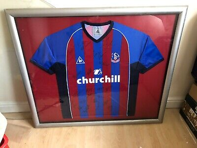Framed Signed Crystal Palace Shirt • 75£