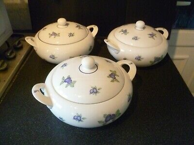 Royal Doulton Every Day Blueberry Tureens/Lidded Casserole Dishes X 3 • 34.99£