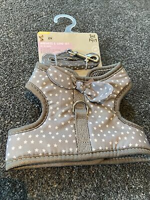 Pets At Home XS Grey Star Harness And Lead Set Brand New • 5£