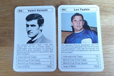 Yashin / Voronin Russia Ace Sporting Aces Football Vintage 2 Cards Mint • 4.50£