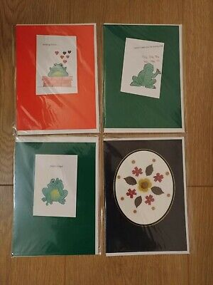 Home Made Greeting Cards (pack Of 4) • 2.25£
