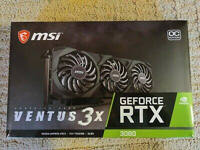 $ CDN1655.61 • Buy MSI GeForce RTX 3080 Ventus 3X 10G OC 10GB GDDR6X IN HAND, BRAND NEW. Ships Now