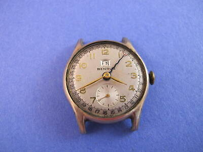 $ CDN26.77 • Buy Benrus Vintage Pointer Hand Calendar Watch Ce4 For Parts To Restore