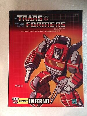 £45 • Buy Transformers INFERNO Commemorative Series Autobot G1 MISB