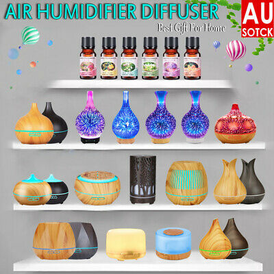 AU32.69 • Buy Ultrasonic Aroma Aromatherapy Diffuser Oil Electric Air Humidifier Essential LED