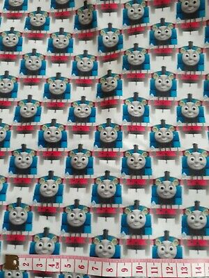 Thomas The Tank Engine Fabric  1m X 1.45m Poly Cotton (not Stretchy) White • 10.99£