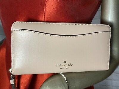 $ CDN68.07 • Buy NWT Authentic KATE SPADE Kerri Large Continental Leather Wallet Rosycheeks