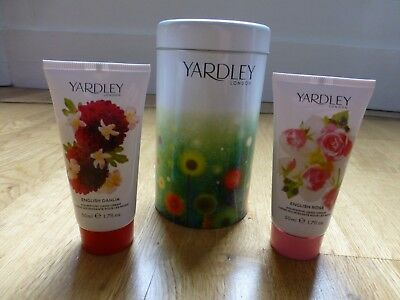 Yardley Hand Cream Gift Set In A Tin - Ideal Christmas Gift • 6£
