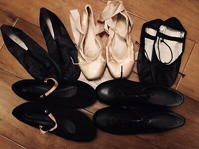 Dance Shoes Bundle Tap Ballet Jazz  Character Demi Pointe Size 4.5/5.5 • 20£