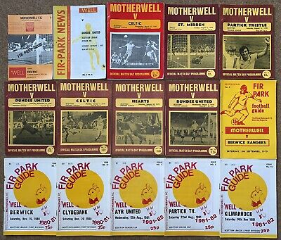 MOTHERWELL FC 1970s/80s HOME FOOTBALL PROGRAMME COLLECTION Scottish Job Lot WELL • 2.99£