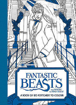 £2 • Buy Fantastic Beasts And Where To Find Them: A Book Of 20 Postcards To Colour By Ha…