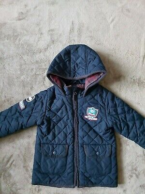 Boys Navy Blue Thomas The Tank Engine Jacket Age 4-5 From Marks And Spencer • 5£