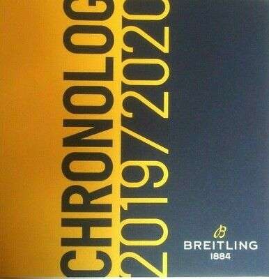 £45 • Buy BREITLING Cronolog(y) Excellent Catalogue 2020 Last Releases All Brand New Rare.