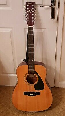 Yamaha FG-411-12 Right Hand 12 String Acoustic Guitar W Case • 170£