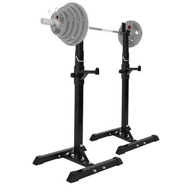 $ CDN98.37 • Buy Squat Rack Adjustable Bench Press Weight Exercise Barbell Stand Gym Fitness