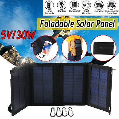 45W USB Solar Panel Folding Portable Power Charger Camping Travel Phone Charger • 25.19£