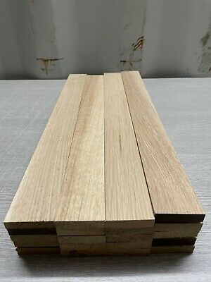 Oak TImber - Natural Wood- Offcuts - Hardwood 20 Pieces 48mm X 12mm X 420mm Long • 30£