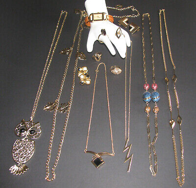 $ CDN74.99 • Buy Vintage Costume Jewelry Sarah Coventry Necklaces Rings 14PC Mixed Lot EUC
