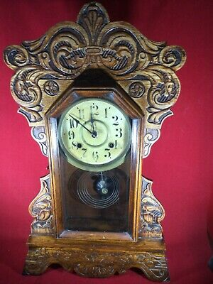 American Gingerbread Mantle Clock Not Working Project Spares And Repair • 17£