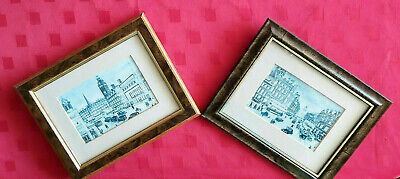PAIR OF GILT FRAMED GLASSED PICTURE FARGATE SHEFFIELD ENGLAND By TERRY GORMAN  • 19.99£