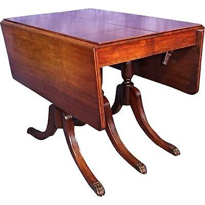 $11970 • Buy 1930 Duncan Phyfe Antique Mahogany Drop Leaf Dining Table Console Sofa Vintage