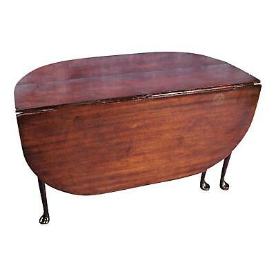 $1078.50 • Buy 18C Early Queen Anne Mahogany Drop Leaf Gate Leg Table Console Dining Antique