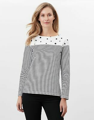 Joules Womens Harbour Print Long Sleeve Jersey Top - Star Stripe • 22.95£