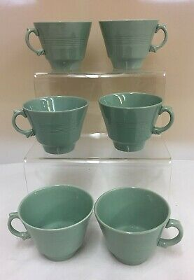 VINTAGE Woods Ware Beryl (Green) 6 X Tea Cups - Ideal Replacements (D3) • 4.99£