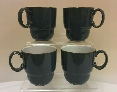 Denby Everyday Grey Stacking Mugs 3.75 Inches Tall  (D3) • 4.99£