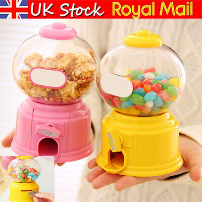 Gumball Machine Bubble Gum Sweet Dispenser Mini Candy Vending Toy Xmas Gifts • 5.80£