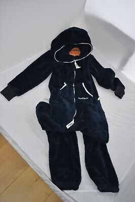 OnePiece Jump In Dark Navy Blue Full Zip Up Fleece Jumpsuit All In One Mens XS S • 60£